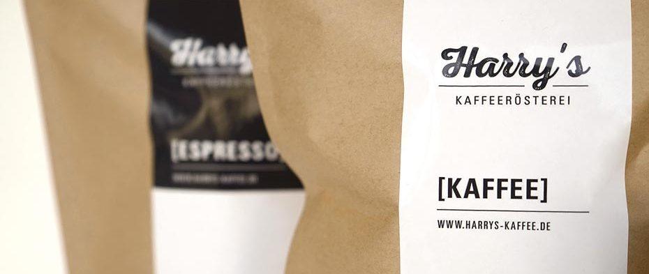 Kaffeetüten von Harry's Kaffeerösterei