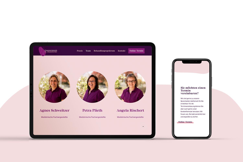 Neckarmedia Webdesign für Frauenarztpraxis Dr. Birl