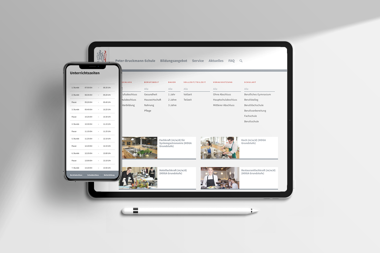 Neckarmedia Webseite für Peter-Bruckmann-Schule Heilbronn