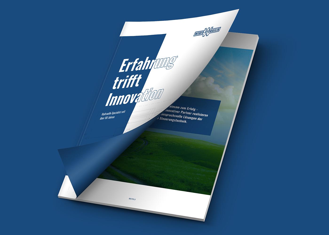 Neue Imagebroschüre für Weber Hydraulik