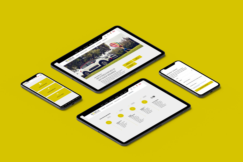 Neckarmedia Webdesign Relaunch für Autohaus Nägele