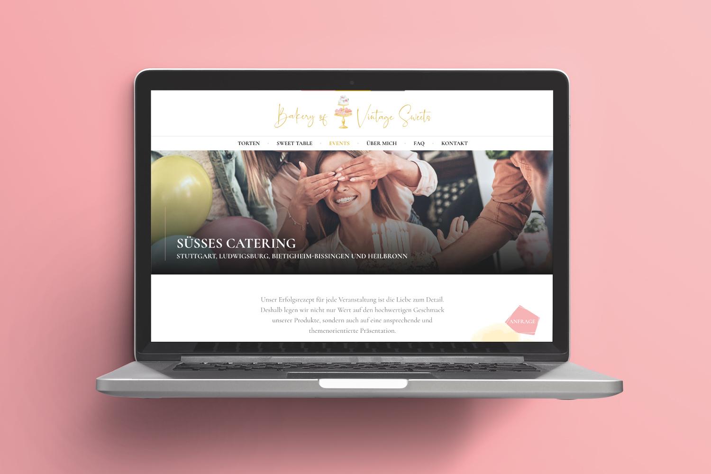 Neckarmedia Webdesign für Bakery of Vintage Sweets