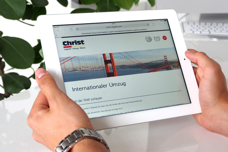 Christ Logistik responsive Webseite