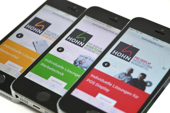 Responsive Webdesign Firma Hohn