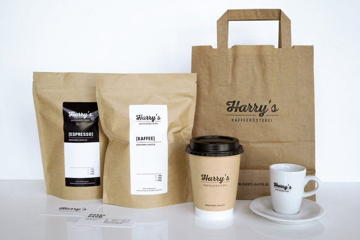 Harrys Kaffee Corporate Design