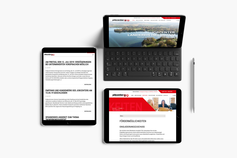 Neckarmedia Webdesign für Jobcenter Landkreis Heilbronn