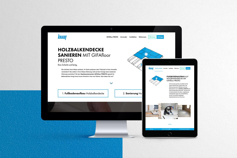 Neckarmedia Webdesign für Knauf Integral
