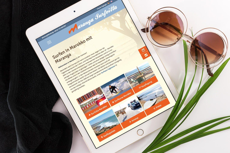 Maranga responsive Webseite