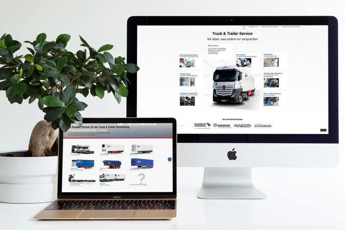 Mezger Rent & Service responsive Webseite