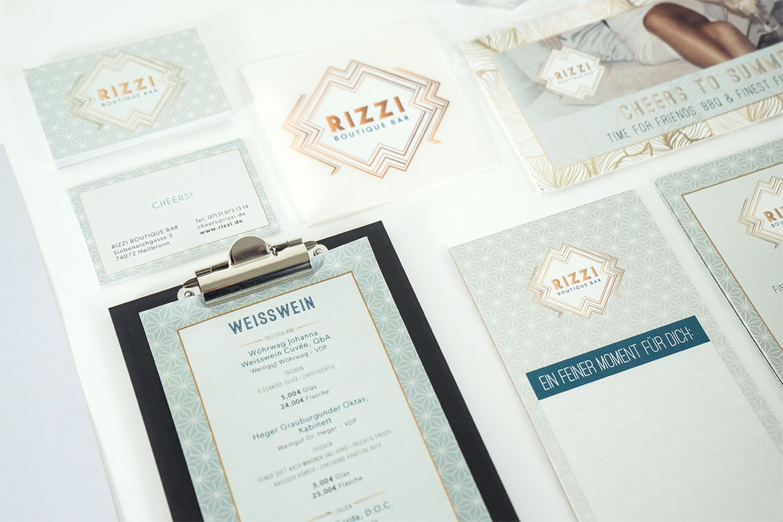 Corporate Design RIZZI Boutique Bar