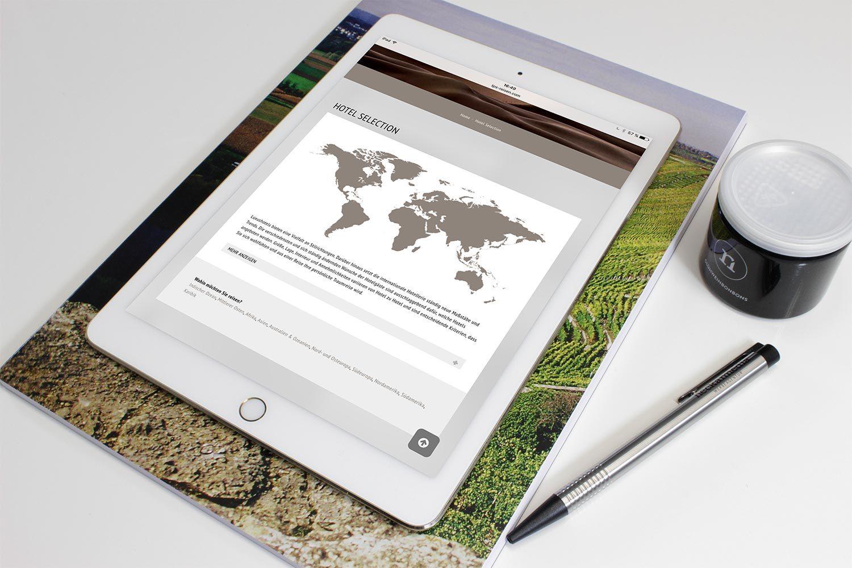 Impressionen des responsive Designs von TPS Reisen