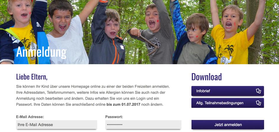Software zur Teilnehmerverwaltung für Kinderfreizeit Haigern