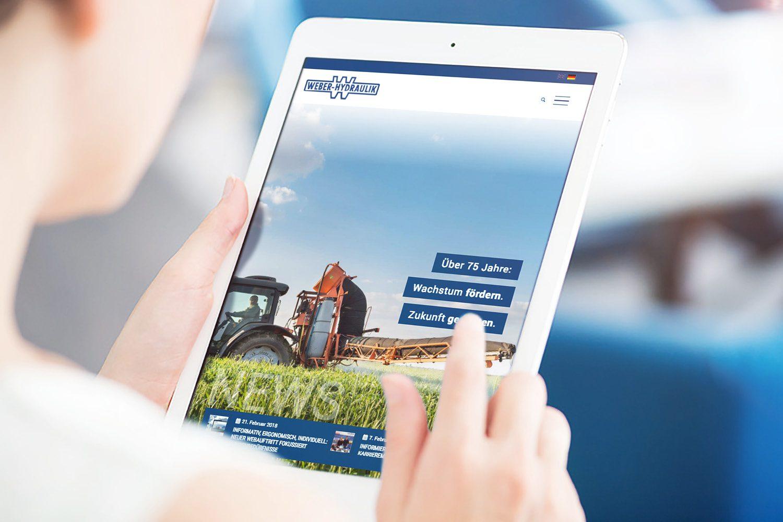 Weber Hydraulik Webdesign von Neckarmedia