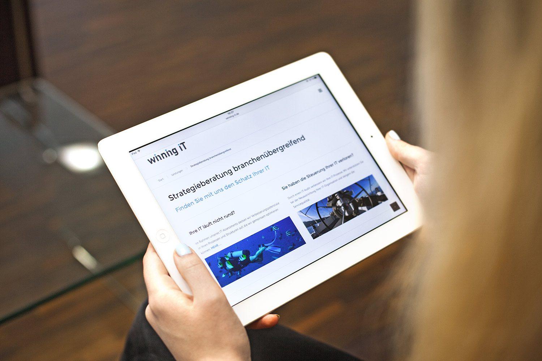 Winning IT responsive Webseite