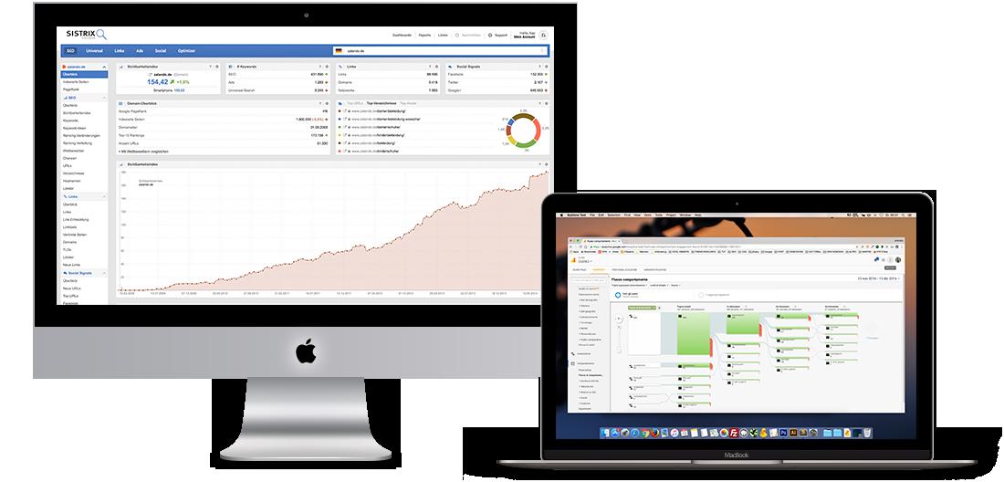 Sistrix und Google Analytics Graphen