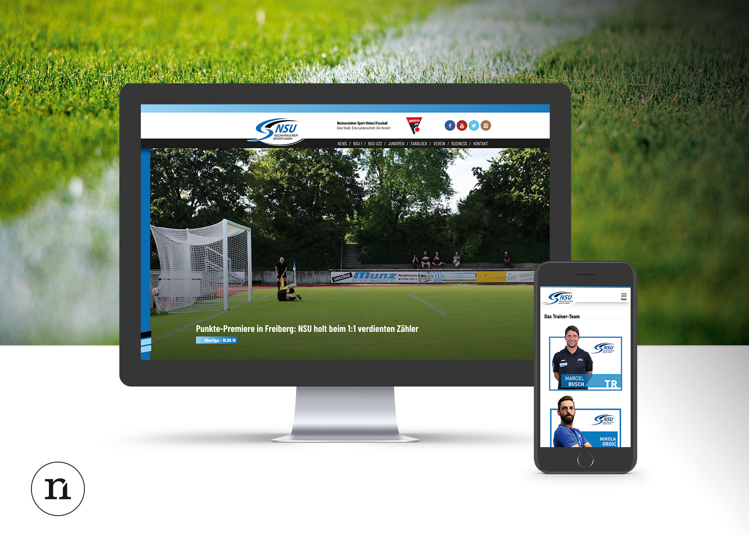 NSU Sportunion Webdesign by Neckarmedia